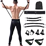 STRLONG Body Resistance Bands Set, 150lbs Speed Agility Training Strength Jump Trainer MMA Boxing Training Resistance Band Set for Muay Thai,Karate Combat,Fitness,Basketball,Volleyball,Football