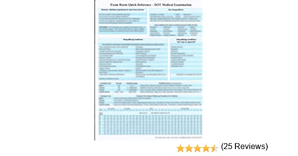 The DOT Medical Exam - Quick Reference: Dr. Brian Tasky ...