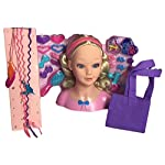 DREAM COLLECTION Doll Hair Styling Head with Accessories and Hair Extention Set