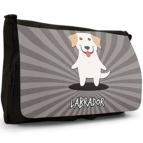 Laptop Large Retriever Lab Cartoon Messenger Dogs Labrador Bag Canvas Black Shoulder School World wHEUzqR