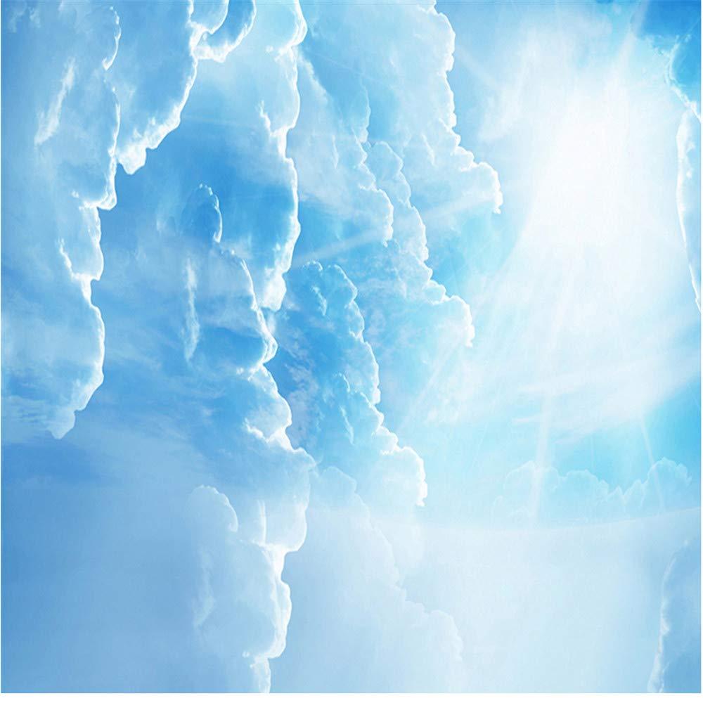 Qbbes Personnalis/é 3D Papier Peint Bleu Ciel Blanc Nuages Plafond Peintures Murales Pour Salon Chambre D/écoration Du Plafond Mur Papier-120X100Cm