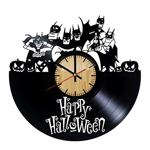 Home & Crafts Happy Halloween Justice League Art Vinyl Wall Clock –Handmade Gift for any Occasion – Unique Birthday, Wedding, Anniversary, Wall Décor Ideas for any Space -