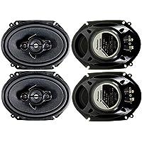 4) Pioneer 5x7 / 6x8 Inch 4-Way 350 Watt Car Stereo Speakers Four   TS-A6886R