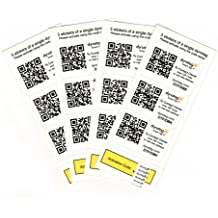 Dynotag Web/GPS Enabled QR Code Smart Tags - Ready to use, 12 Sticker Set (3 Stickers each of 4 dynotags)