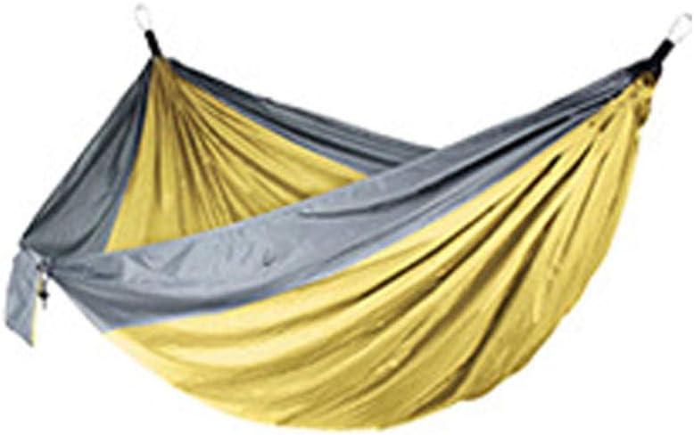 YSCYLY Hamaca para Exteriores,270 * 140cm Doble Hamaca de Nylon,para Aire Libre, Viaje, Senderismo, Camping y Caminata