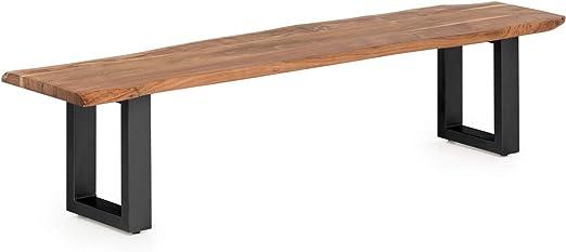 Woodkings® Sitzbank Bullwer Baumkante Holz Akazie massiv