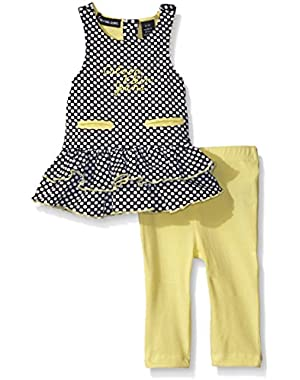 Baby Girls' Dobby Knit Tunic and Yellow Jersey Spandex Leggings