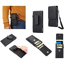 DFV mobile - Magnetic Holster Card Holder Case belt Clip Rotary 360º for => ZTE NUBIA N2 (2017) > Black