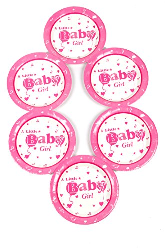 Funcart Little Baby Girl Theme 7 inches Paper Plate  6 Pcs/Pack
