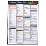 A5 Grocery / Food Shopping Ticklist / Checklist Organiser Notepad – Double Sided - 50 Sheets Per Pad - Size 210mm x 148mm