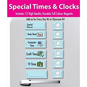 Easy daysies Magnetic Schedules For Kids- Special Times & Clocks Kit