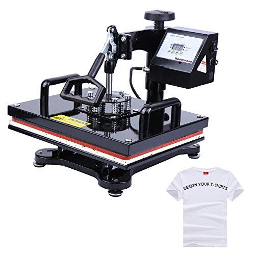 PanelTech 12x15'' T-Shirt Swing-Away Digital Heat Press Machine Sublimation Heat Press