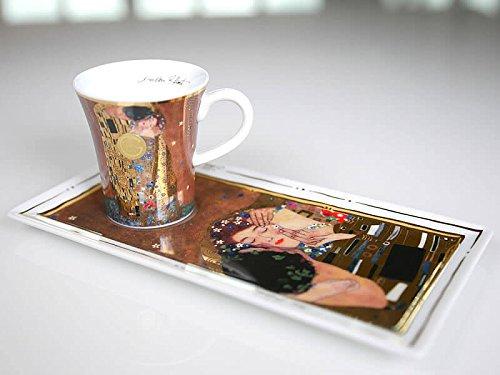 Goebel Artis Orbis Porcelain Espresso Set, Porcelain, Der Kuss, 20 x 10 x 7,5/0,1 l (Geschenk Für Maler)