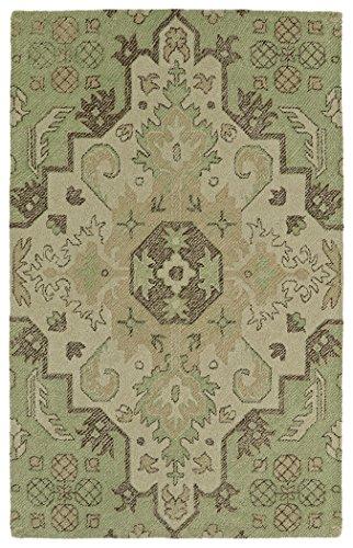 Kaleen Rugs Weathered Collection WTR02-50 Green 4' x 6' Indoor/Outdoor, Handmade Rug