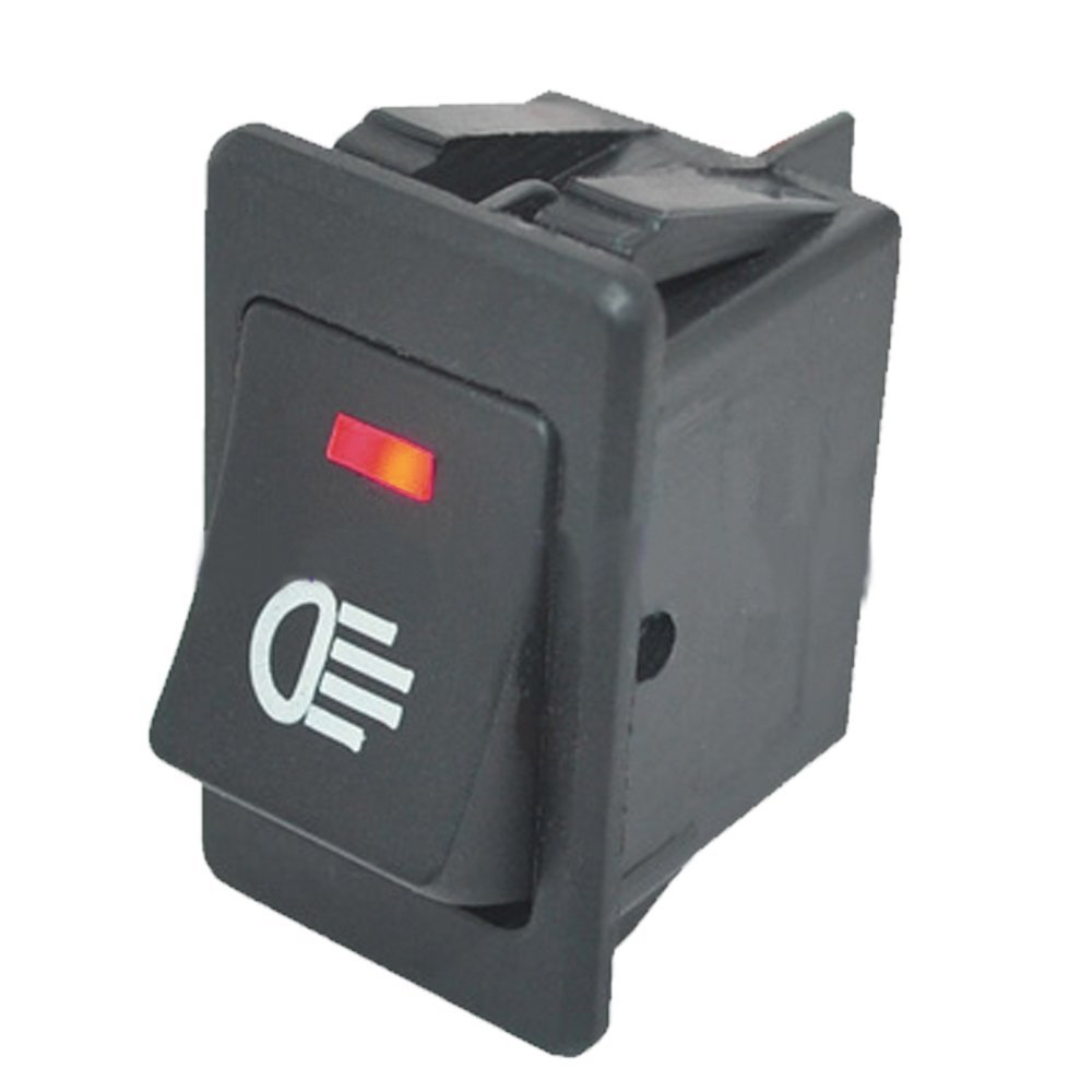 Mintice™ 4 X 12V Car Vehicle Blue Red Green Yellow LED Light Fog Light Button Rocker Toggle Switch On Off 4Pin