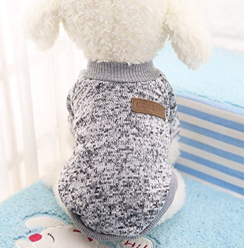 Beauty DIY Mart Caliente Ropa de Perros, Chaqueta Abrigo Cálido Suéter de Algodón de Invierno Otoño Suave para Perros Pequeños Gatos Cachorros Mascotas,Gris ...
