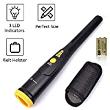 Metal Detector Pinpointer - Portable Metal Detector with High Sensitivity, One-button Operation Pin Pointer with LED Indicator & Buzzer Vibration, Treasure Hunter with Belt Holster