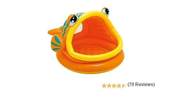 Intex 57109NP - Piscina hinchable para bebe, diseño de pez, 124 x 109 x 71 cm, 53 l