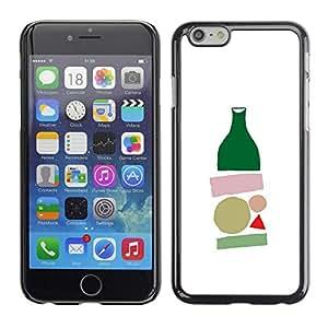 Be Good Phone Accessory // Dura Cáscara cubierta Protectora Caso Carcasa Funda de Protección para Apple Iphone 6 Plus 5.5 // bottle minimalist modern art white