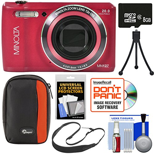Minolta MN12Z OIS 12x Zoom Wi-Fi Digital Camera  with 8GB Ca