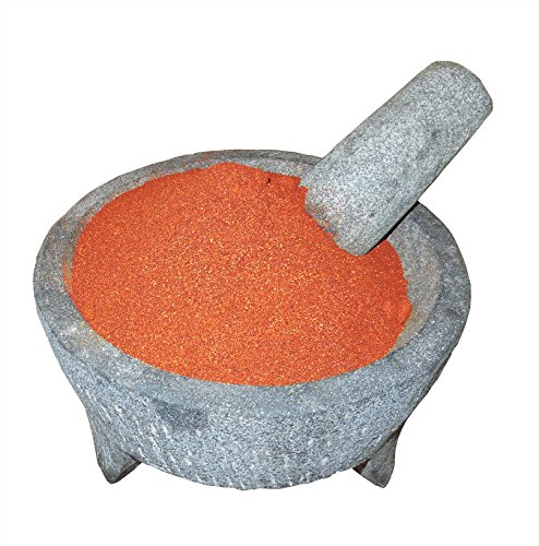 Arbol Chile - Arbol Chile Powder El Molcajete Brand for Sauces, Salsa, Pasta, Chili, Meat, Pizza, Potatoes, Vegetables, Soups, Stews, Chicken and BBQ (18 oz)