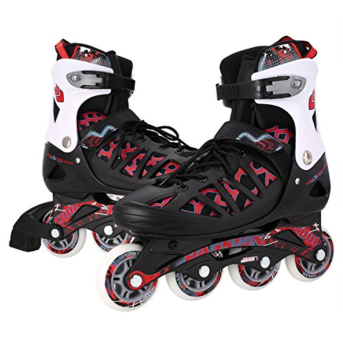 ANCHEER Adult Adjustable Inline Skates Medium/Large Size Men/Women Training Roller Skates Outdoor Speed Buckle Rollerblades free shipping