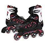 Inline Skates for Kids- Adjustable Inline Skate Girls/Boys Roller Skates for Women Size 12-8 Outdoor Skating Birthday/Christams Gift