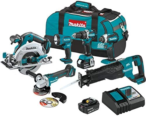Makita XT612M 18V LXT Lithium-Ion Brushless Cordless 6-Pc. Combo Kit 4.0Ah