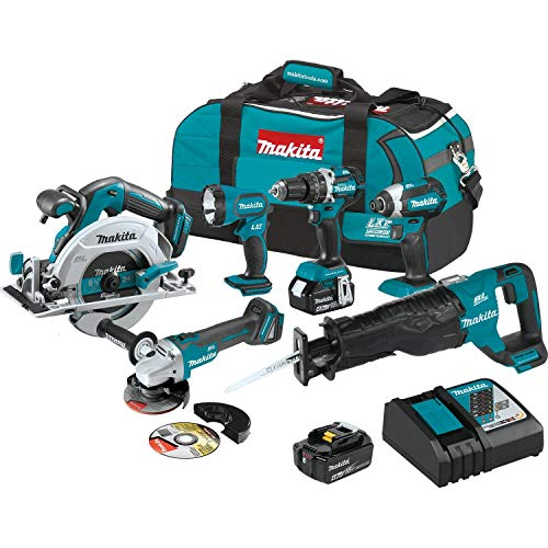 Makita XT612M 18V LXT Lithium-Ion Brushless Cordless 6-Pc. Combo Kit (4.0Ah) ()