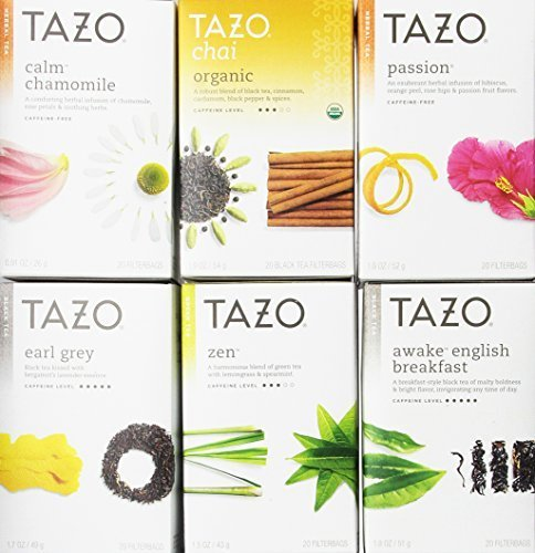 Tazo Assorted Tea Sampler 20ct (Pack of 6)
