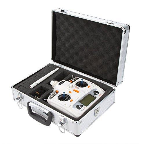 Andoer Universal RC Radio Control Transmitter Aluminum Carrying Case Box Bag for Futaba JR Spektrum Walkera Esky Transmitter