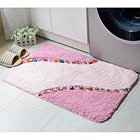 Ieasycan Embossing Flower Carpet Rugs Slip Resistant Floor Mats Washable For Living Dining Bedroom Area Bathroom Carpet Soft (Wales Swatch)