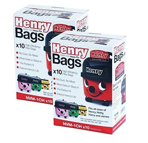 /20/x Numatic Henry Hetty Hepaflo bolsa de gamuza de HOOVER bolsas de aspiradora HEPA flo First4Spares/
