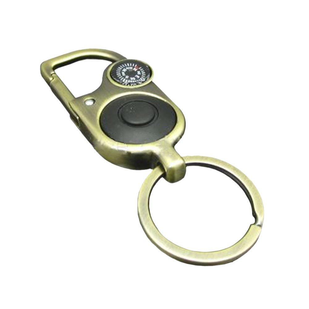 Meanhoo Magnetic navigation Baseplate Compass with Keychain Multifunction Military Brass Army Metal Sighting High Accuracy Waterproof Camping Emergency for Hiking Camping Night Fishing