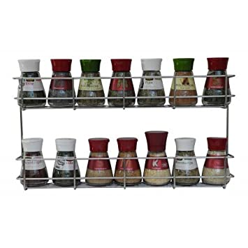 Lovely 2 Tier Spice Rack   Cabinet Door And Wall Mountable Spice Rack   Herb Rack  Chrome