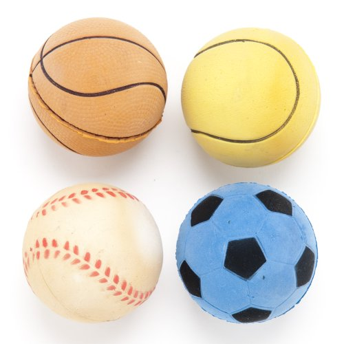 Regent Products 66830P Rubber Sport Ball Dog Toy, 4-Pack, My Pet Supplies