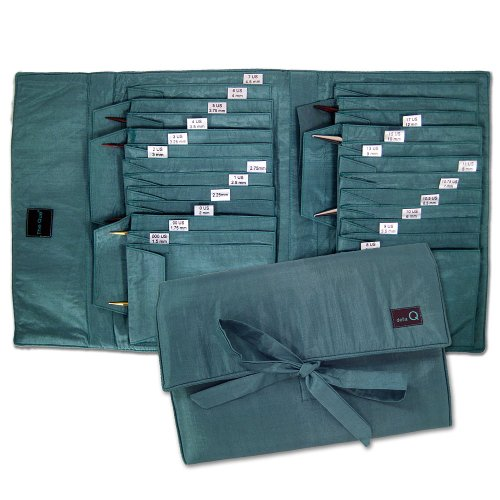 della Q The Que Grand Knitting Case for Circular Knitting Needles; 043 Seafoam 175-1-043 by della Q