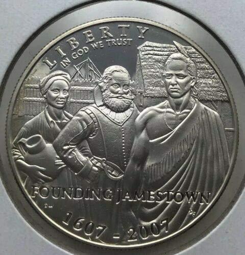 2007 Jamestown 400th Anniversary Commemorative Silver Coin w Box /& COA