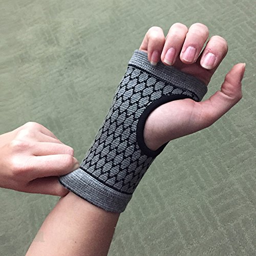 Carpal Tunnel Wrist Support - Bamboo Charcoal Technology - Self-Warming Carpal Support - Small by The Healing Tree