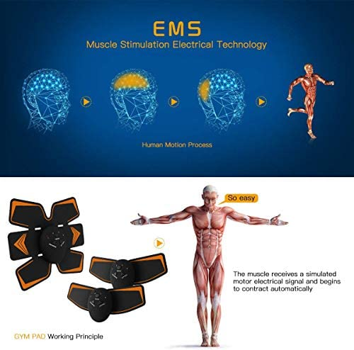 Antmona Abs Stimulator, Muscle Toner - Abs Stimulating Belt- Abdominal Toner- Training Device for Muscles- Wireless Portable to-Go Gym Device- Muscle Sculpting at Home- Fitness Equipment, Black 5