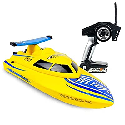 DeXop RC Speed Boat 4CH 2.4G High Speed 24 km/h RC Boat RTF Charging Remote Control Boat Outdoor Toys