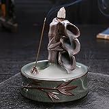 Gift Pro Ceramic Backflow Incense Tower Burner Statue Figurine - Free Gift:30 Pcs Incenses, Fragrance Random (Style 7)