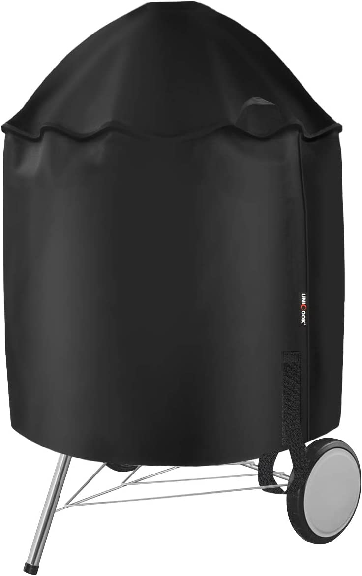 Amazon Com Unicook Grill Cover For Weber 22 Inch Premium Charcoal Grills Heavy Duty Waterproof Kettle Grill Cover Fade And Uv Resistant Compared To Weber 7150 Garden Outdoor
