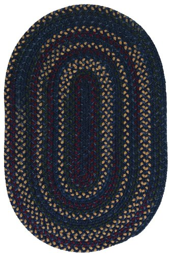 Midnight Oval Blue Rug (Colonial Mills Braided Oval Area Rug 4'x6' Blue Midnight Collection)