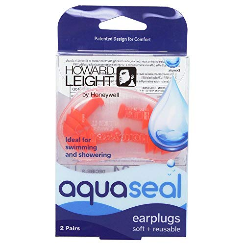 Howard Leight Health & Beauty R-01684 AquaSeal Soft + Reusable Earplugs, 2 Pair (Pack of 1) from Howard Leight Health & Beauty