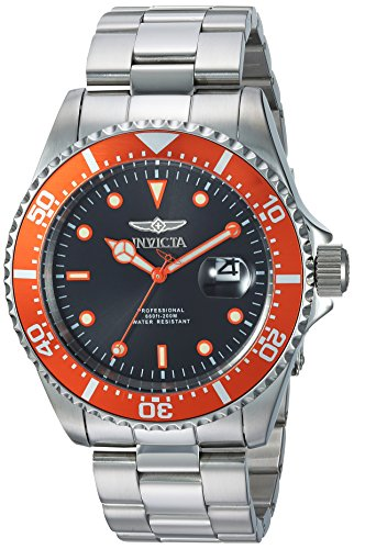 Invicta Men's Pro Diver Quartz Diving Watch with Stainless-Steel Strap, Silver, 9 (Model: 22022) ()