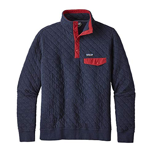 Patagonia Men's Cotton Quilt Snap-T Pullover (XL, Navy Blue)
