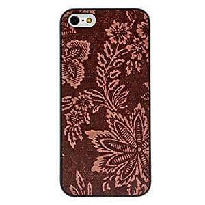 Brown Flower Pattern Hard Case for iPhone 5/5S