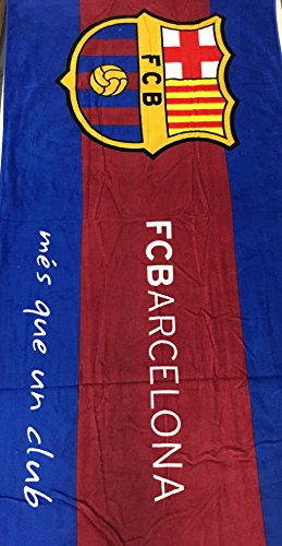 MES QUE UN CLUB FC Barcelona Soccer Team Beach Towel (Barcelona Football Club)