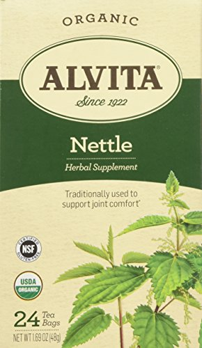 Alvita Teas Organic Herbal Tea Bags Nettle Leaf, 1.69 oz, 24 bags